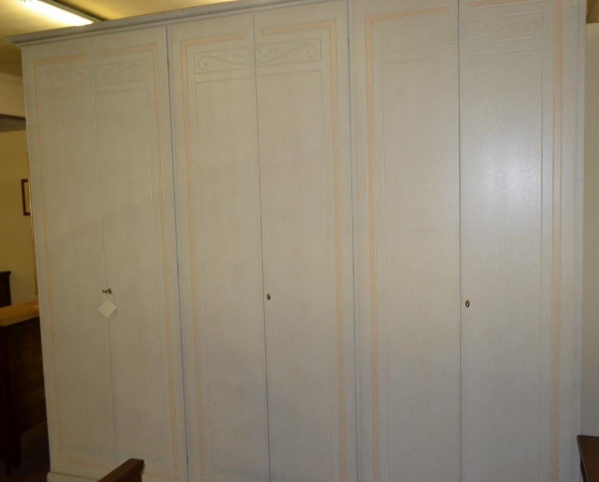 Decorazione Ante Armadio : Armadio a 6 ante laccato e decorato arm 18 livio bernardi mobili
