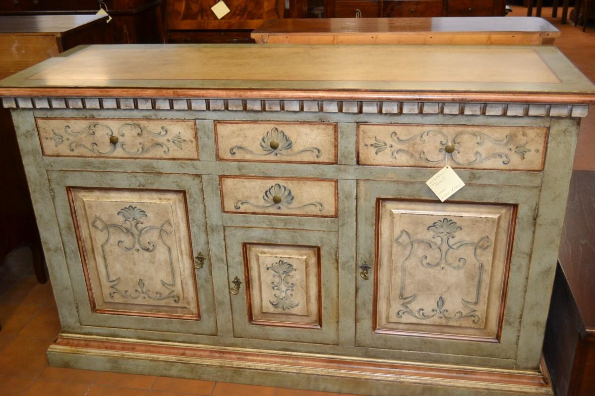 Credenza Bassa Con Cassetti : Credenza livio bernardi mobili darte artigianali in legno