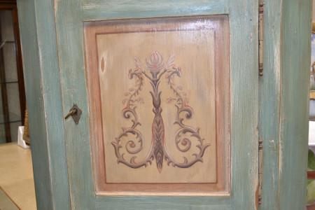 Mobile ad angolo in legno antico laccato 2 porte 1 cassetto ART ANG 37