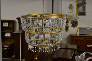 Lampadario con pendenti in cristallo ART LAMP 05
