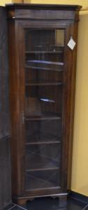 Vetrinetta ad angolo in legno massello ART  ANG 02