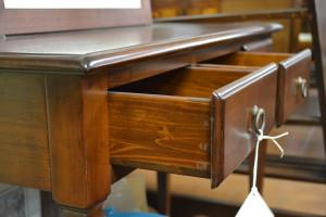 Consolle con 3 cassetti in legno di noce massello ART CON 12