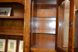 Libreria in noce porta TV ART  LIB 06