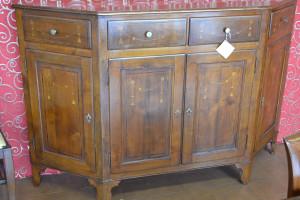 Credenza con pendagli scantonata in legno antico ART  CRED 4P-06