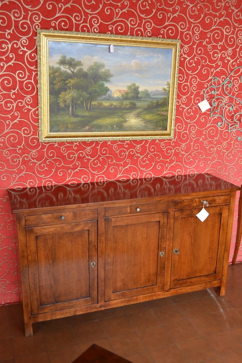 Credenza in stile cred 3p 12 livio bernardi mobili for Piattaie arte povera