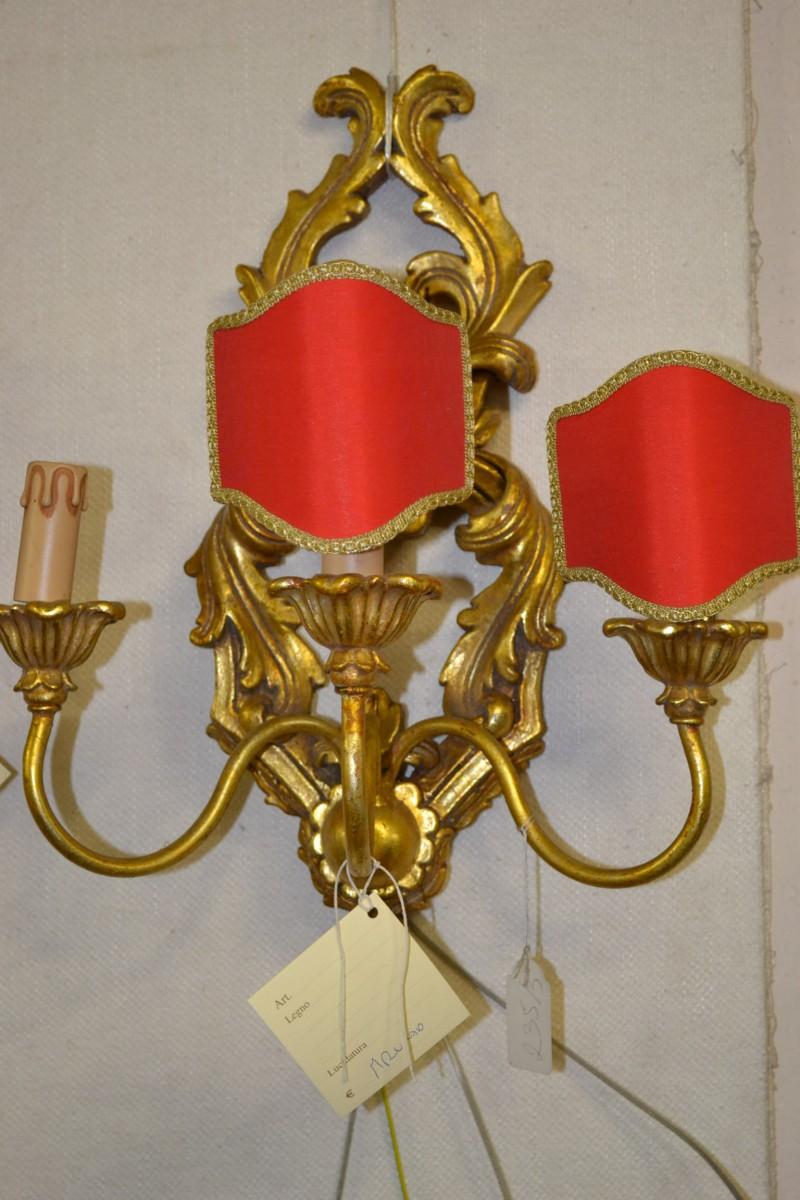 Lampada da parete a 3 candele livio bernardi mobili for Mobili da parete