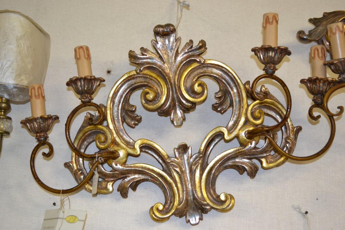 Lampada da parete a 5 candele livio bernardi mobili for Mobili da parete