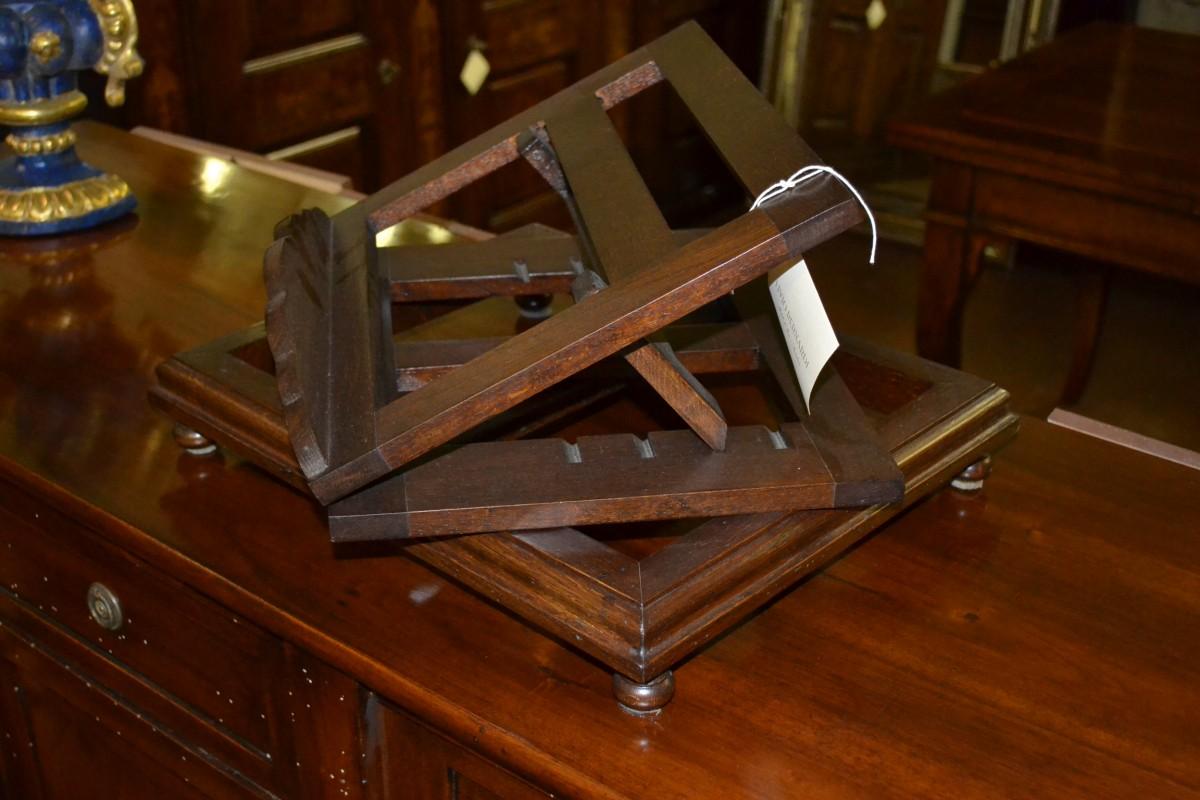 Leggio rovere da tavolo regolabile livio bernardi - Costruire un leggio da tavolo ...