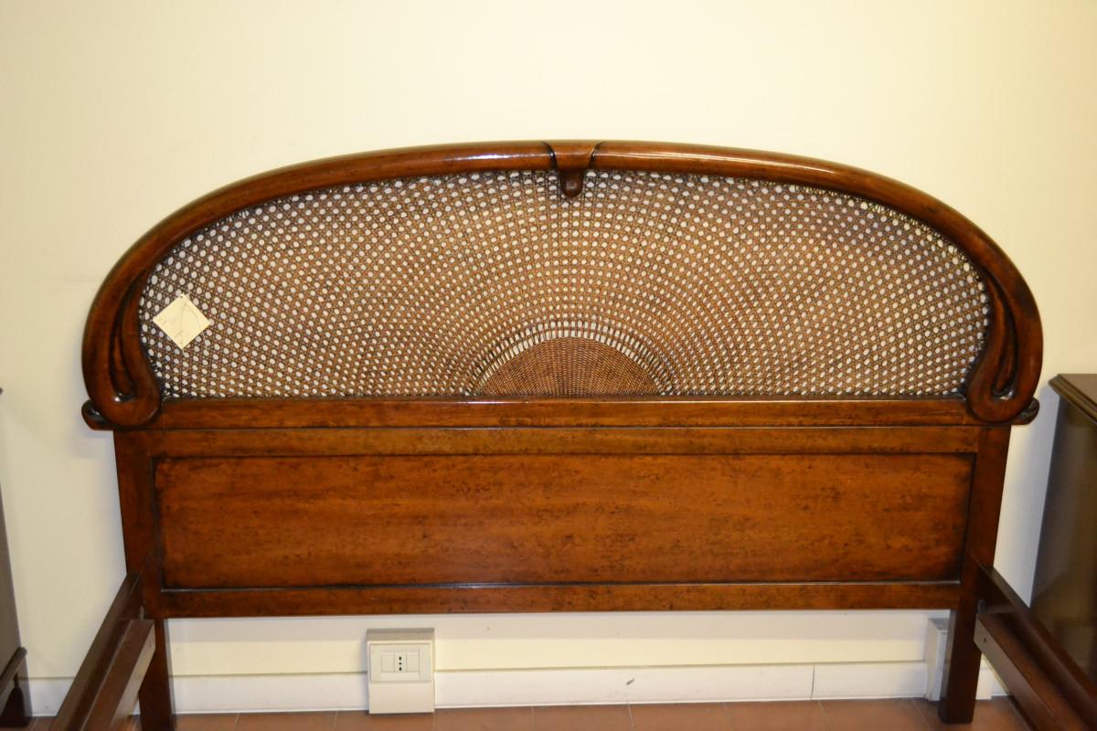 Letto matrimoniale modello livio bernardi mobili mobili d 39 arte artigianali in legno - Letto di paglia ...