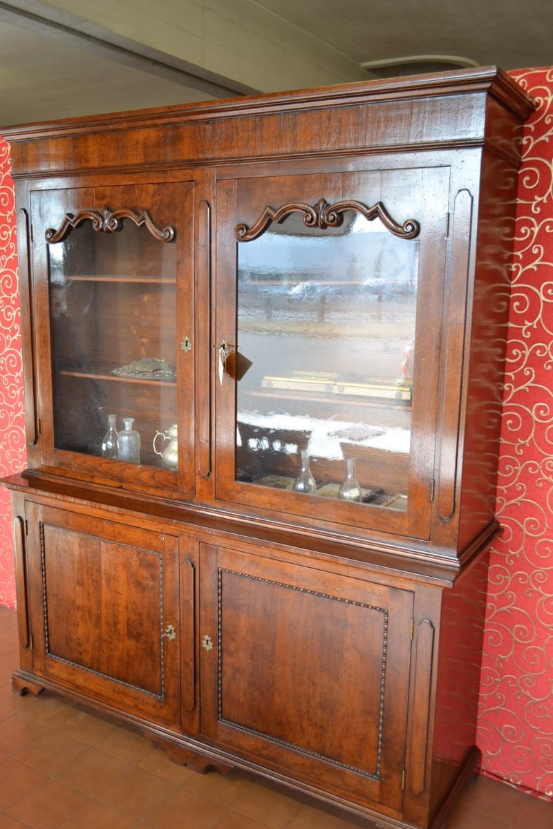 Libreria con fregi intagliati livio bernardi mobili mobili d 39 arte artigianali in legno - Fregi per mobili ...