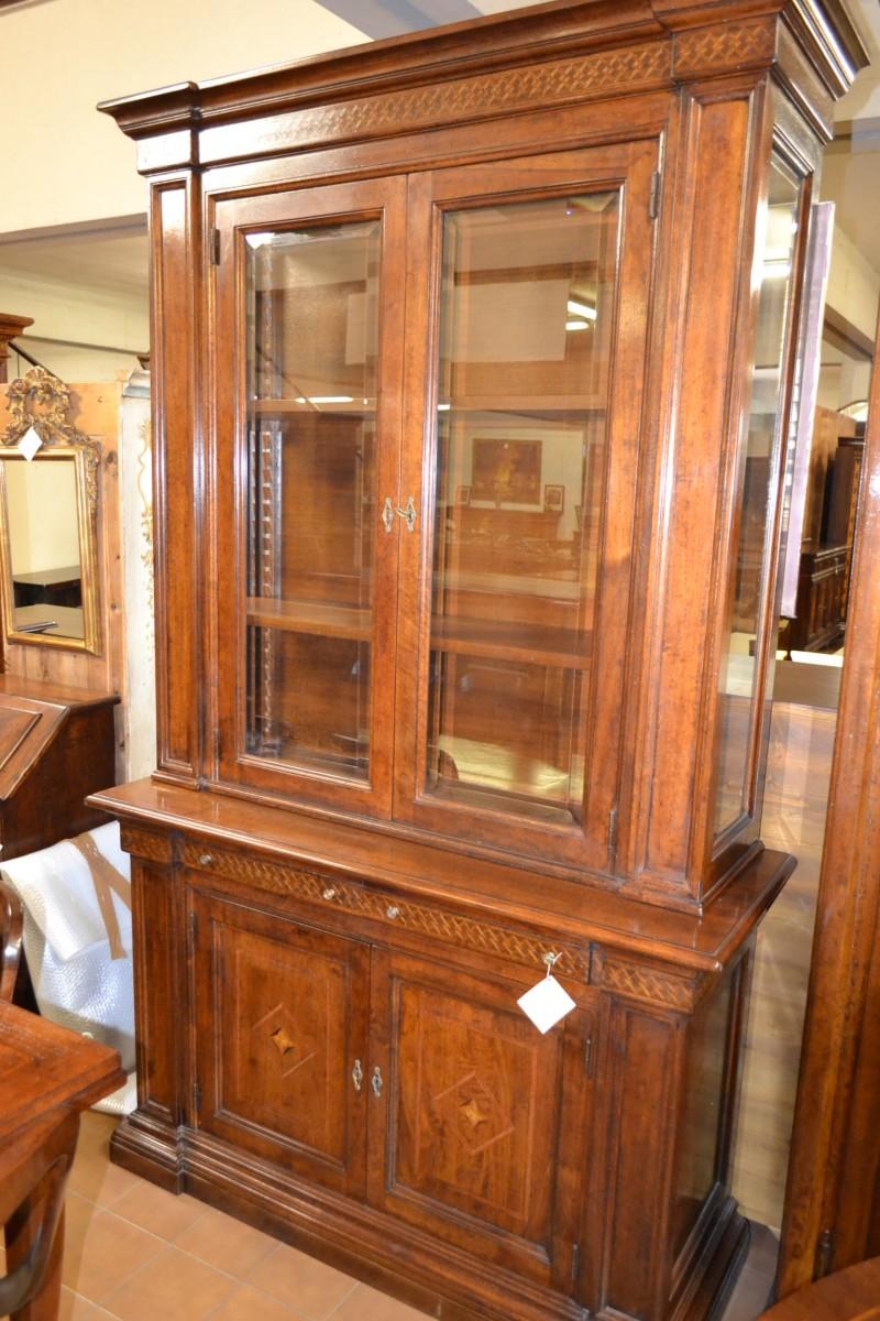 Libreria galileo a 2 porte e 5 cassetti livio bernardi for Cassapanche piccole legno