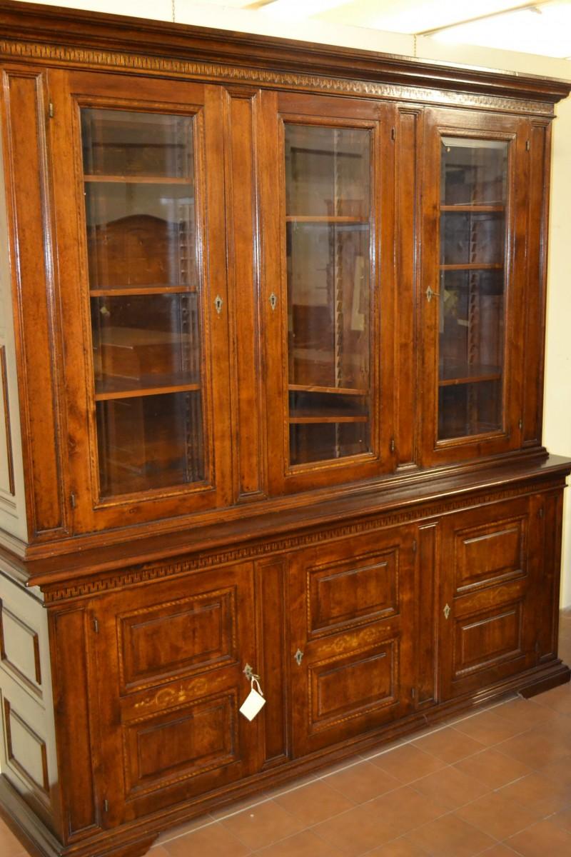 Libreria noce pilastri livio bernardi mobili mobili d - Mobili d arte ...