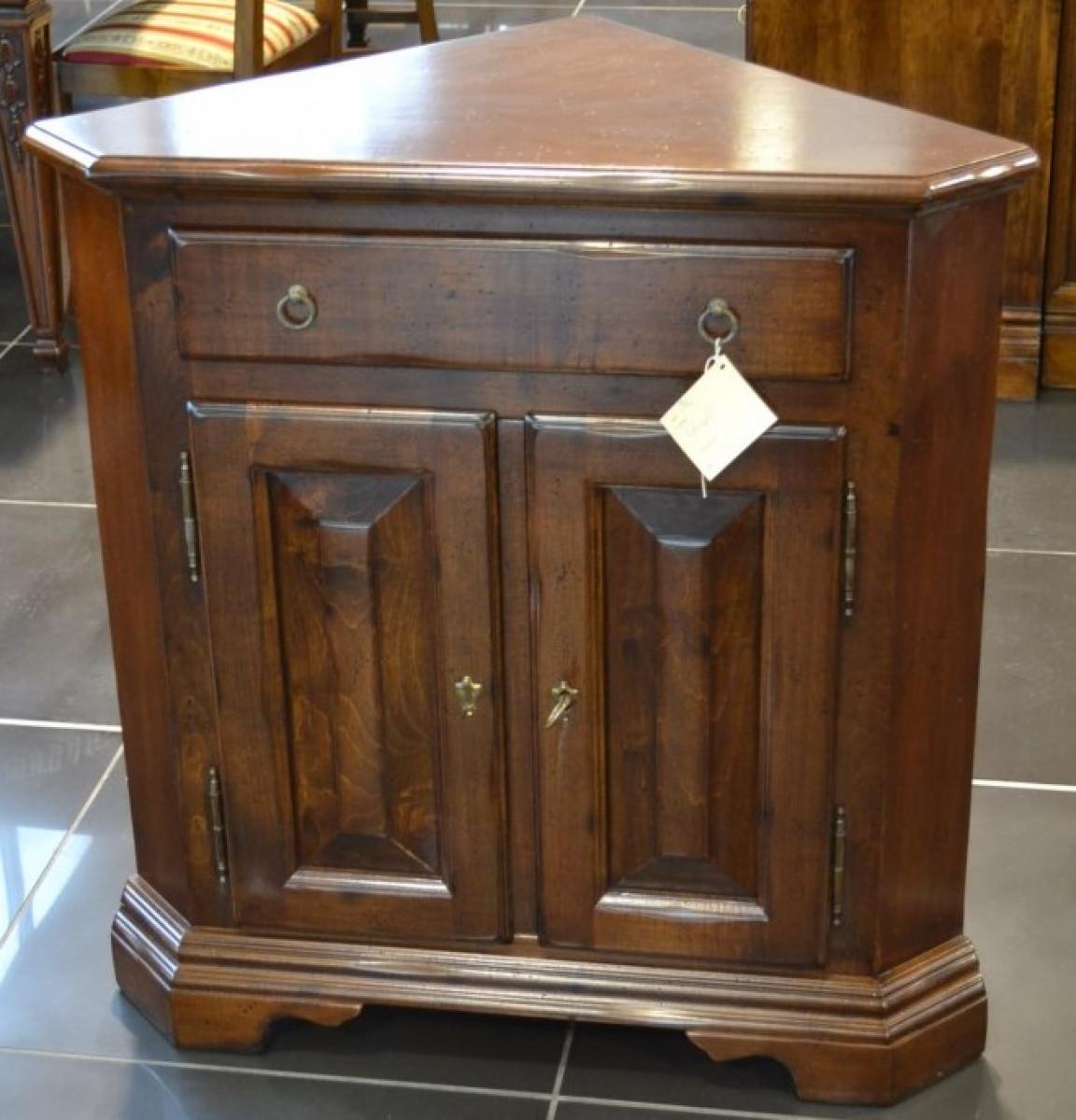 Mobile ad angolo  basso a 2 porte 1 cassetto in legno di acero ART  ANG 04