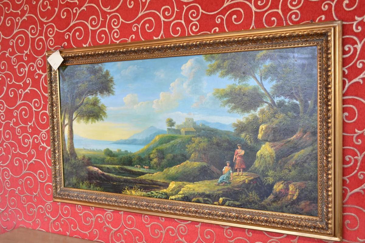 Painting of a landscape livio bernardi mobili mobili d - Mobili d arte ...
