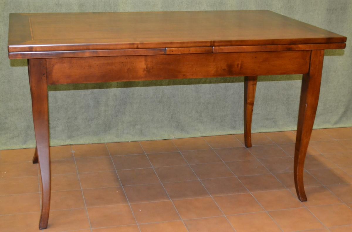 rectangular extendable table with spade legs livio