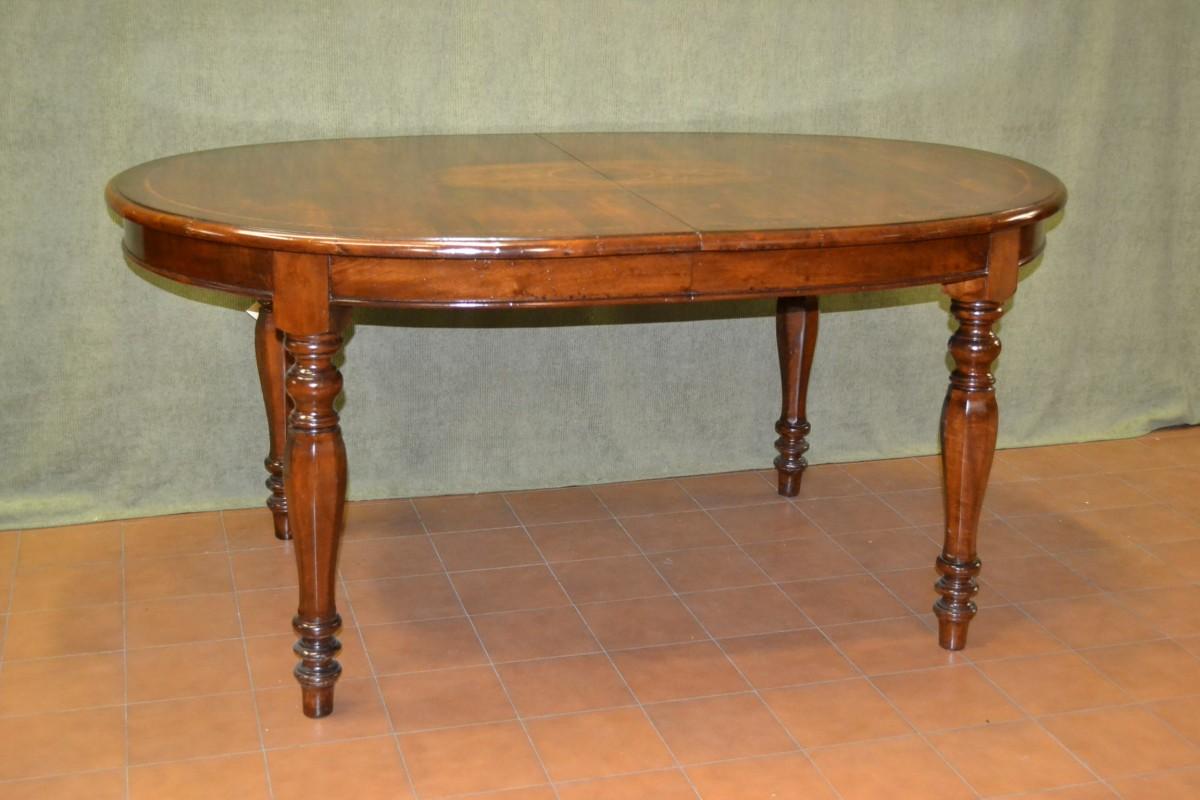 Tavolo ovale allungabile con gamba tornita livio bernardi mobili mobili d 39 arte artigianali - Tavolo ovale allungabile arte povera ...