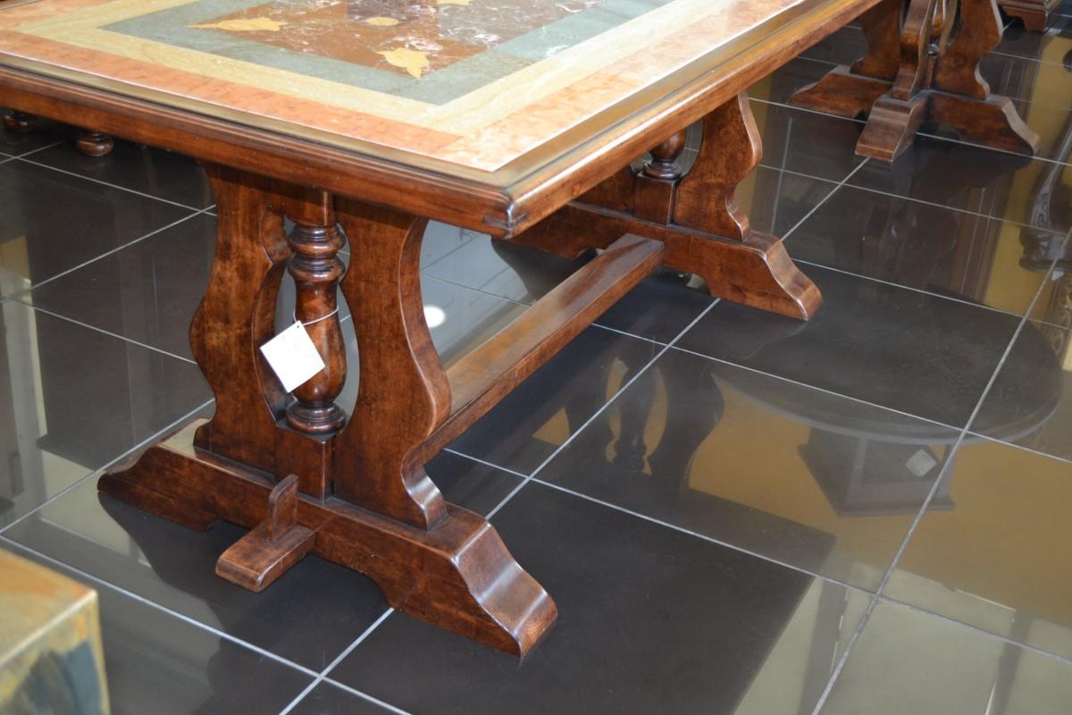 Tavolo piano marmo livio bernardi mobili mobili d 39 arte for Tavolo legno piano marmo