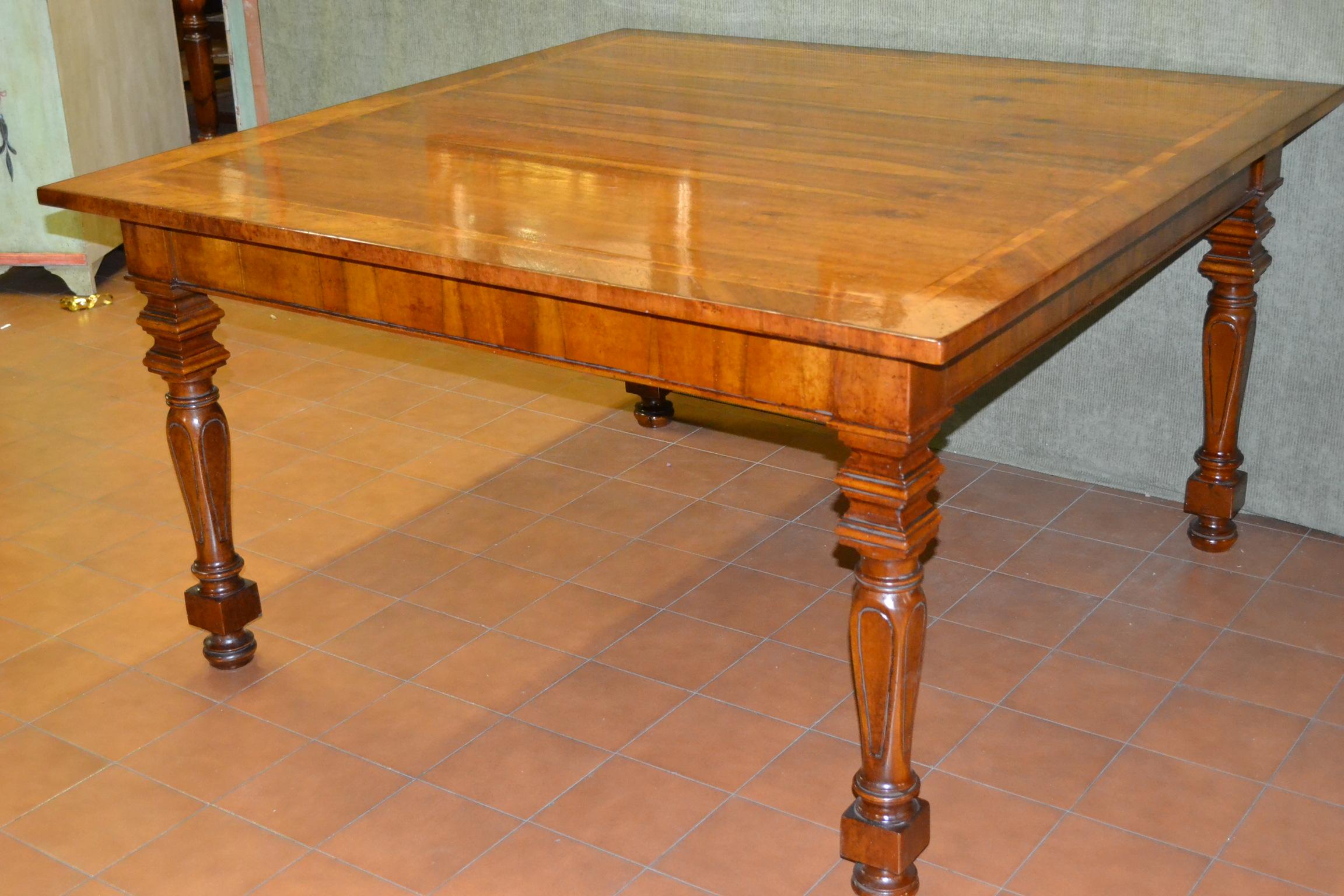 Tavolo luigi xvi in legno antico livio bernardi mobili mobili d 39 arte artigianali in legno - Mobili luigi xvi prezzi ...