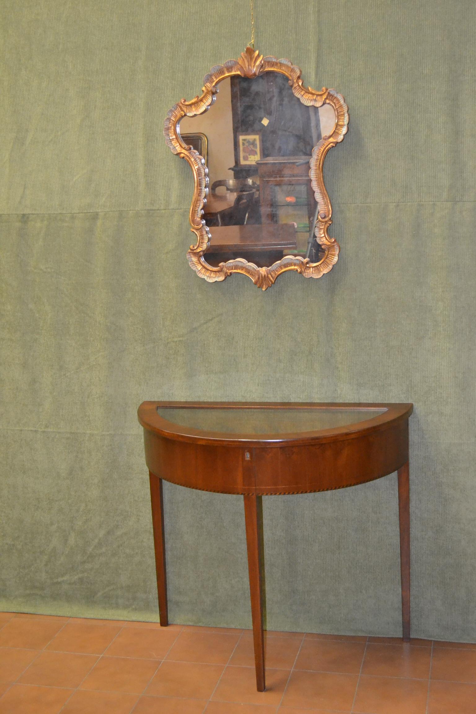 Consolle tonda con piano in vetro livio bernardi mobili - Mobiletti in vetro ...
